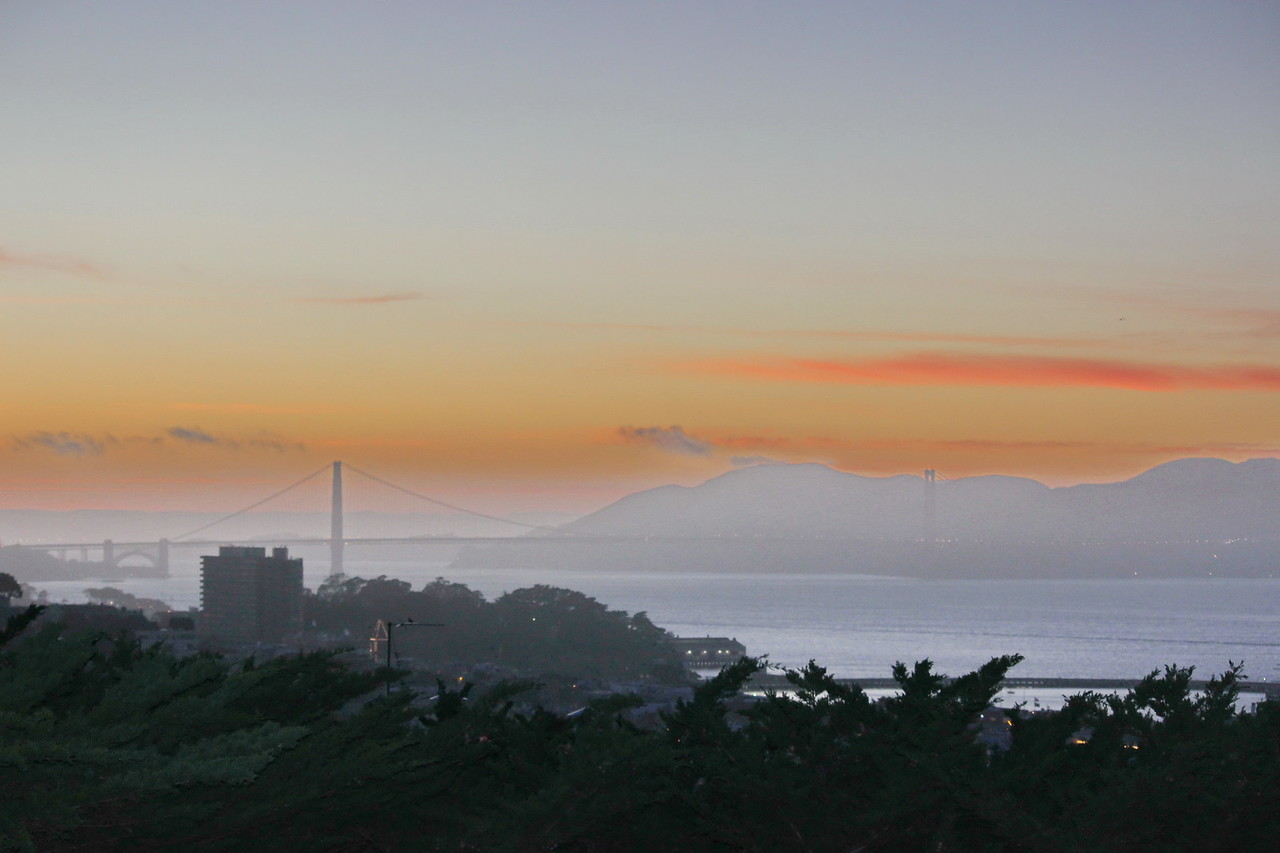 View of Sausalito and Marin County