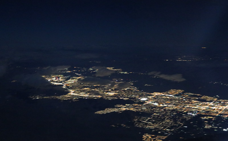 San Diego from the Air at Night