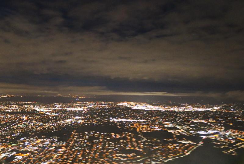 Aerial Night Lights of San Diego