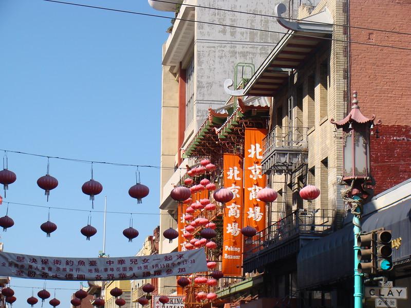 Chinatown along Grant Avenue