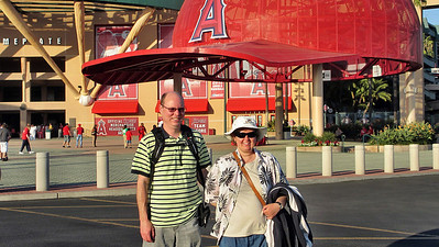 Anaheim and Angels Baseball Game - Mark and Megan Linder at the game
