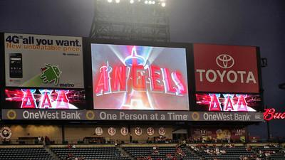 Anaheim and Angels Baseball Game