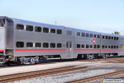 Caltrain Car 3829 in San Jose  07/06/10