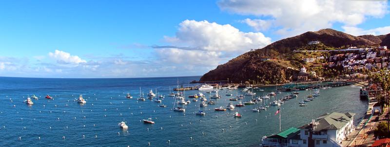 Catalina Island:  Southeast view on Avalon Harbor