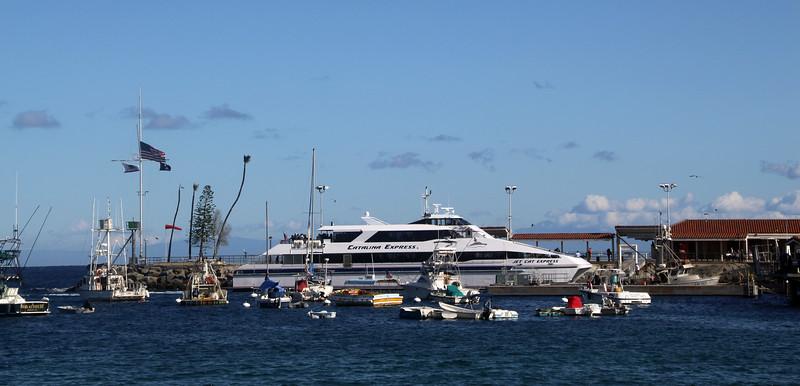 Catalina Island:  Catalina Express Ferry at Avalon Dock