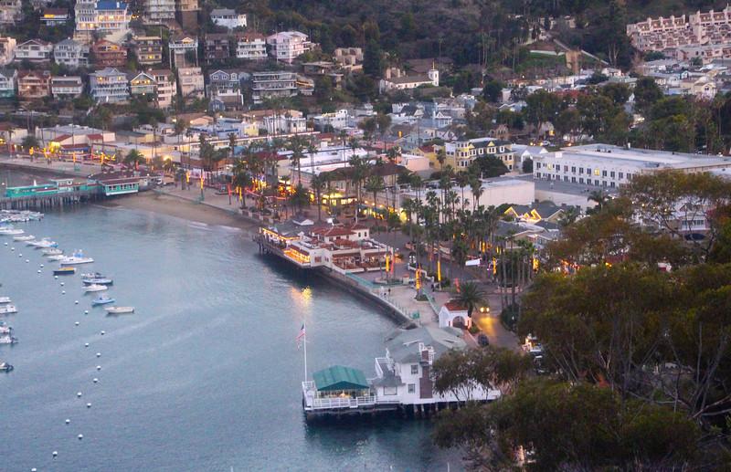 Catalina Island:  Avalon Harbor at Dusk