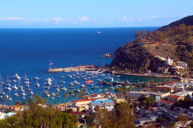 Catalina Island: Avalon Casino, Southeast View Over Harbor