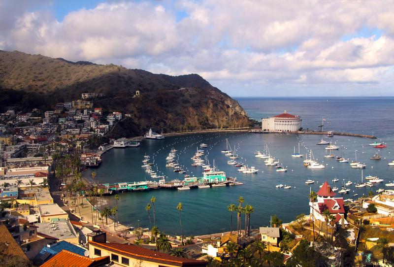 Catalina Island:  Circular view on Avalon Harbor