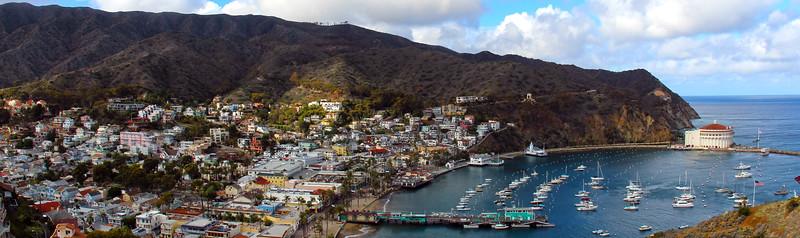 Catalina Island: Panoramic View of Avalon Harbor