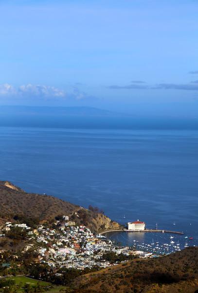 Catalina Island: Avalon Harbor from Airport Road