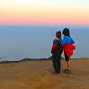 Catalina Island:  Hiking Buddies Enjoying a Catalina Sunset