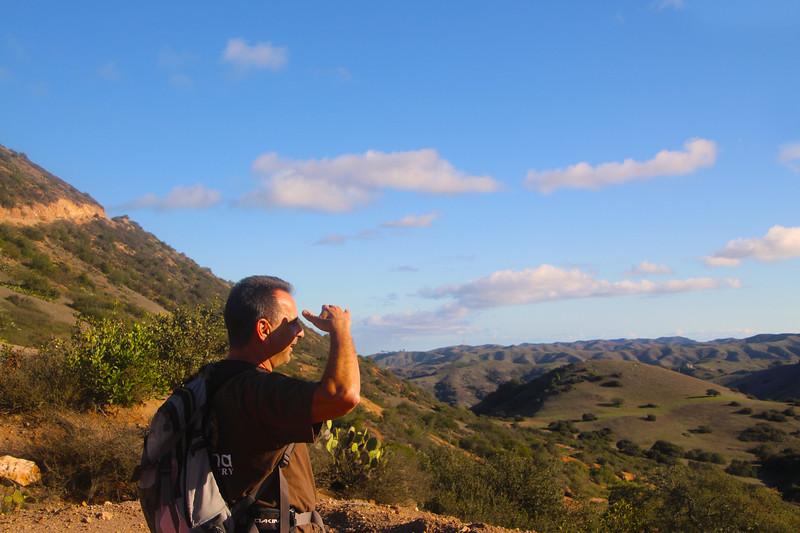 Catalina Island:  Backcountry Hiker on Trans-Catalina Trail