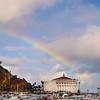 Catalina Island:  Casino with Rainbow, Portrait View