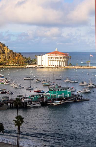 Catalina Island: Sunset view over Avalon and Catalina Island Casino