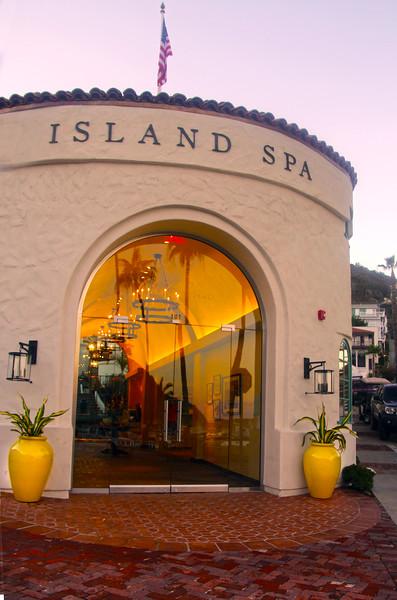 Catalina Island:  Island Spa Entrance at Sunset