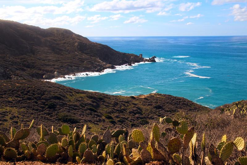 Catalina Island:  View Towards Cottonwood Beach