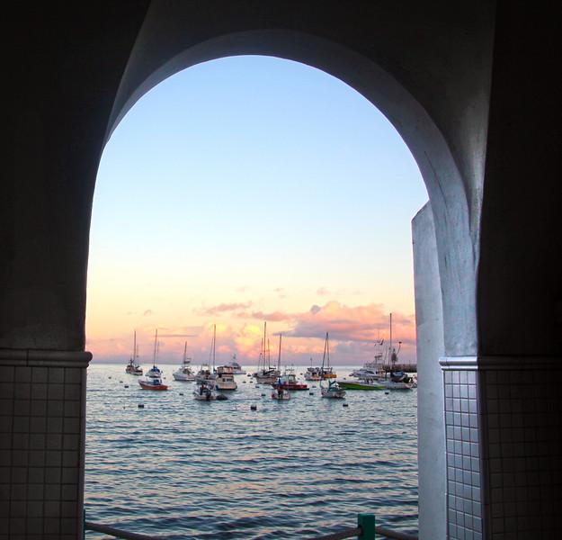 Catalina Island: Harbor View Through Arch