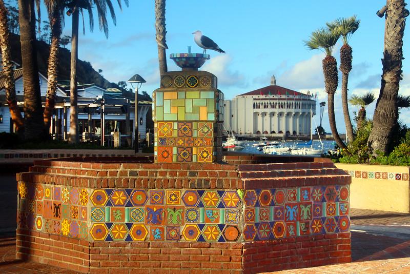Catalina Island: Colorful Catalina Tile Fountain