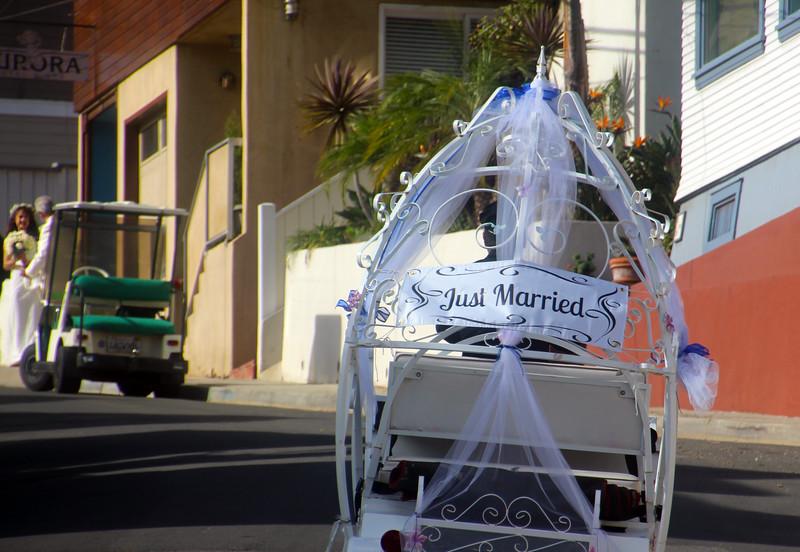 Catalina Island:  Bridal Golf Cart