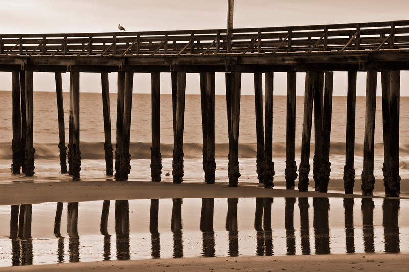 reflected pier...