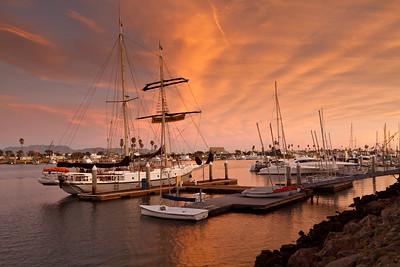 Tall ship docked near Maritime Museum