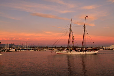 Tall ship entering Channel Islands Harbor