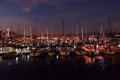 Christmas lights and the annual Parade of Lights brighten Channel Islands Harbor in Oxnard for the holidays
