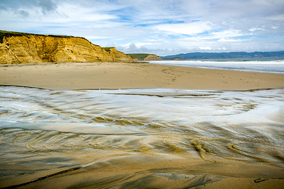 Tidal flows at Drake Beach in Point Reyes