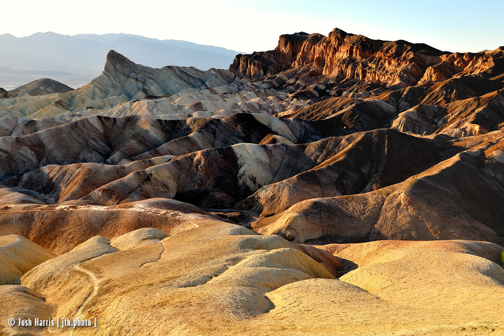 Zabriskie Point, Death Valley, February 2013.