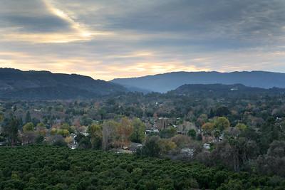 Ojai Valley in autumn