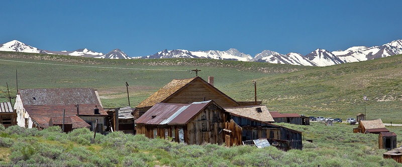 Bodie - a view towards the Sierra