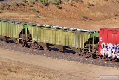 Hopper Car BN449038 at Tunnel 2, Mojave Sub  07/06/10