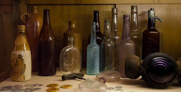 Gold Rush Era Bottles in Malakoff Diggins Museum