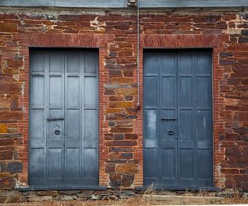 The Doors of I.O.O.F Building in Big Oak Flat