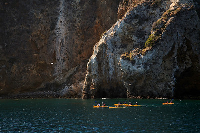 Channel Islands National Park, Santa Cruz Island - Kayaking along the dramatic cliffs of the island.