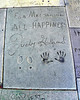 """For Mr. Grauman  ALL HAPPINESS""<br /> Judy Garland<br /> 10-10-39"