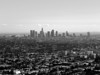 L.A. in B&W from the parapet below the dome