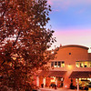 Healdsburg California, Fall Sunset over City Street