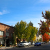 Healdsburg California, Downtown Street in Late Autumn