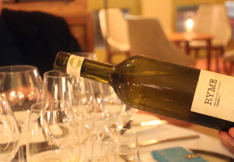 Healdsburg California, Dry Creek Kitchen, 2014 RYME, Las Brisas, Hers Vermentino Carneros