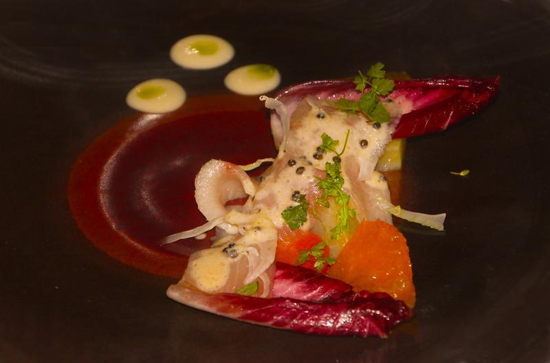 Healdsburg California, Dry Creek Kitchen, Hiramasa Crudo with California Caviar