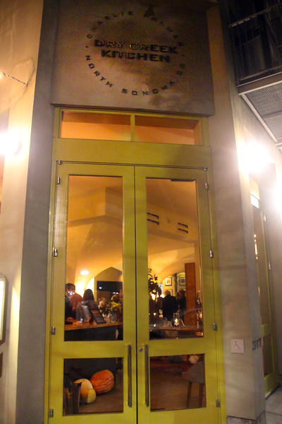 Healdsburg California, Dry Creek Kitchen, Entrance