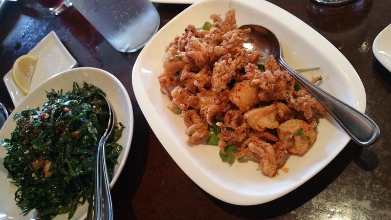 Healdsburg California, Willi's Seafood, Kale Salad & Fried Calamari