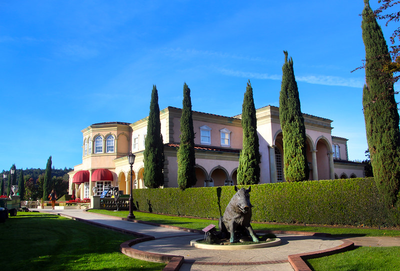 Ferrari-Carano Winery, View on Villa