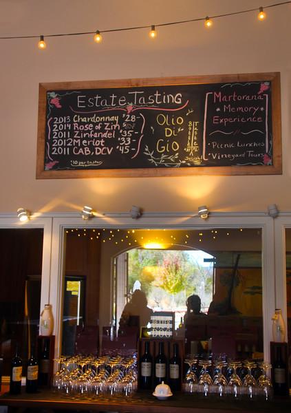 Martorana Winery Tasting Room