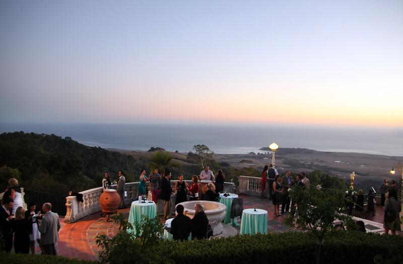 Hearst Castle, Sunset SAVOR reception on terrace