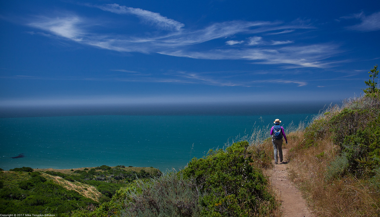 Sky Trail and View of Drakes Bay