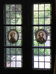 La Casa Nueva window honoring Mozart and Mendelssohn