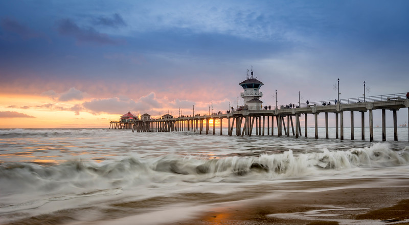 The Motion of the Ocean - Huntington Beach, CA, USA