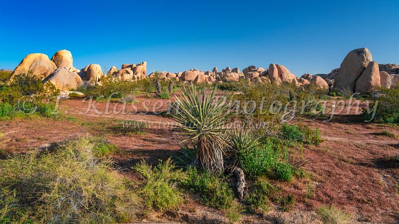 Rock piles in Joshua Tree National Park, California, USA.